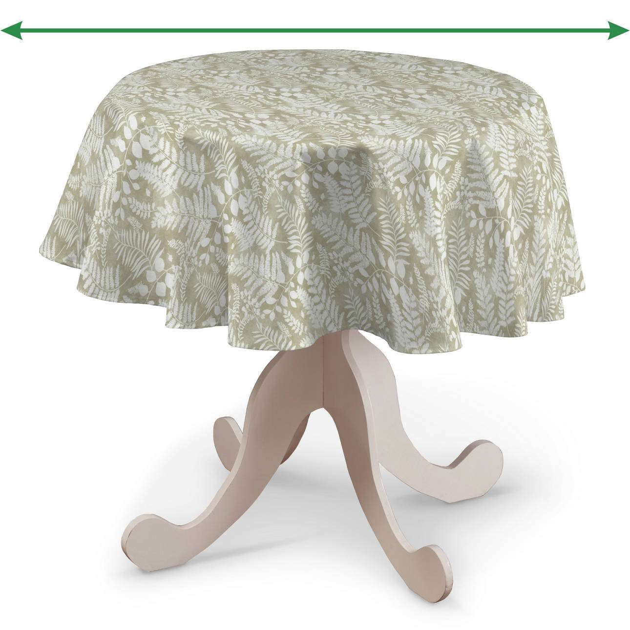 Round tablecloth in collection Pastel Forest, fabric: 142-50