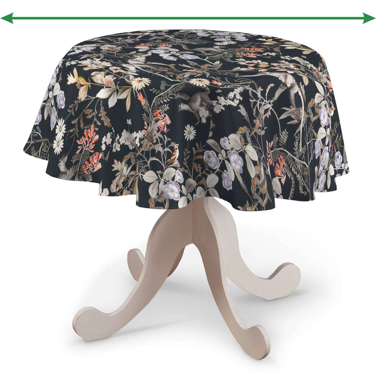 Round tablecloth in collection Tropical Island, fabric: 142-60