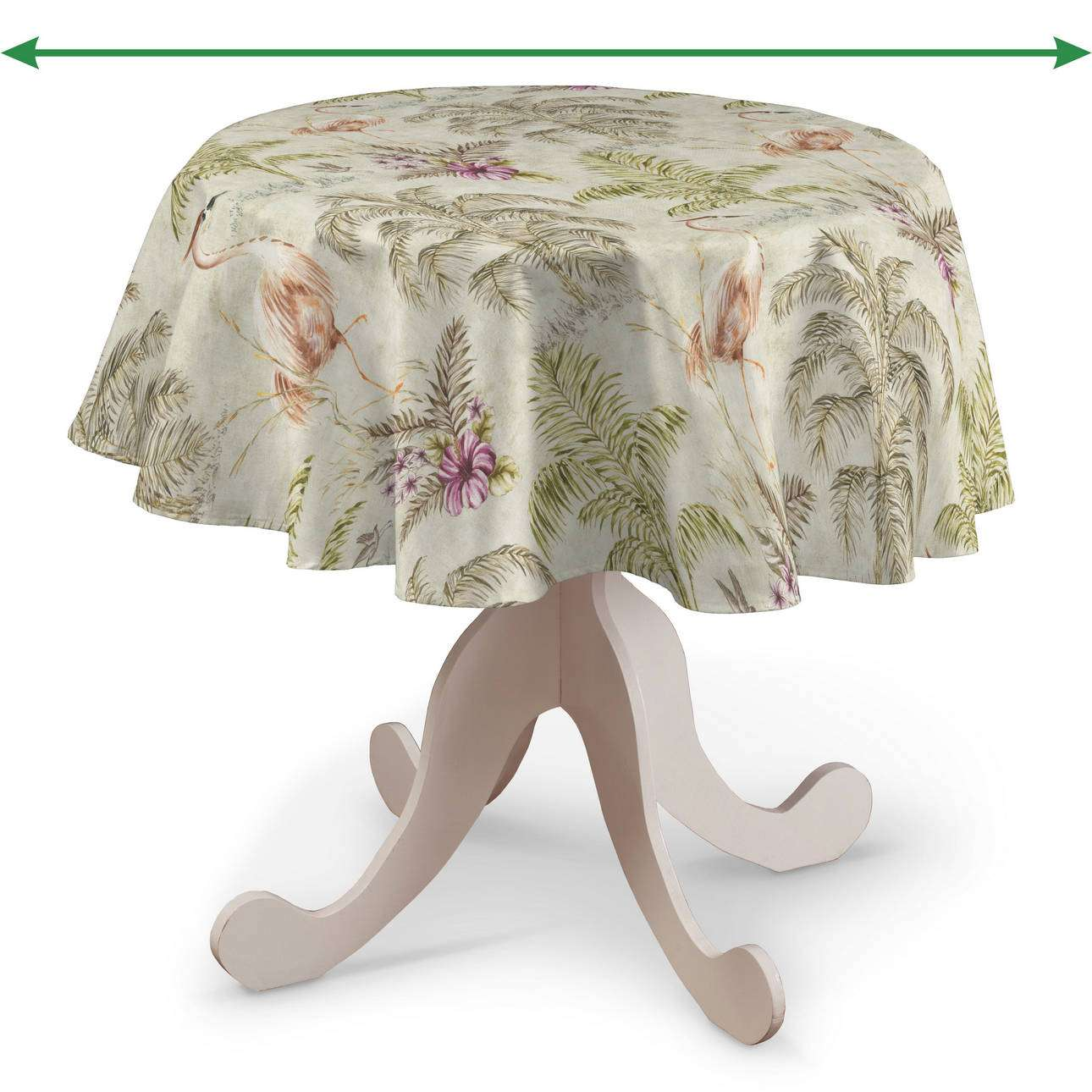 Round tablecloth in collection Tropical Island, fabric: 142-61