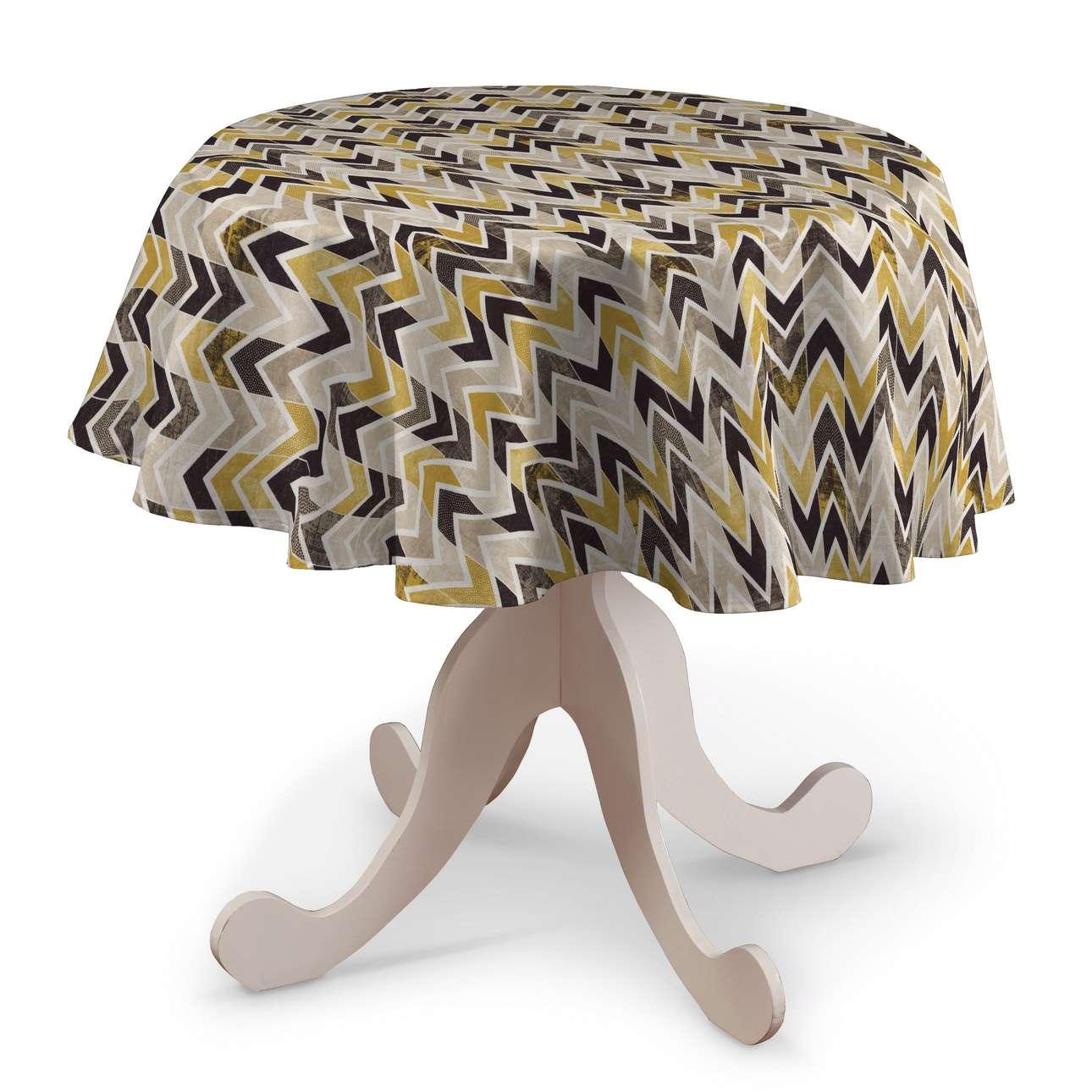 Rund bordsduk i kollektionen Modern, Tyg: 142-79