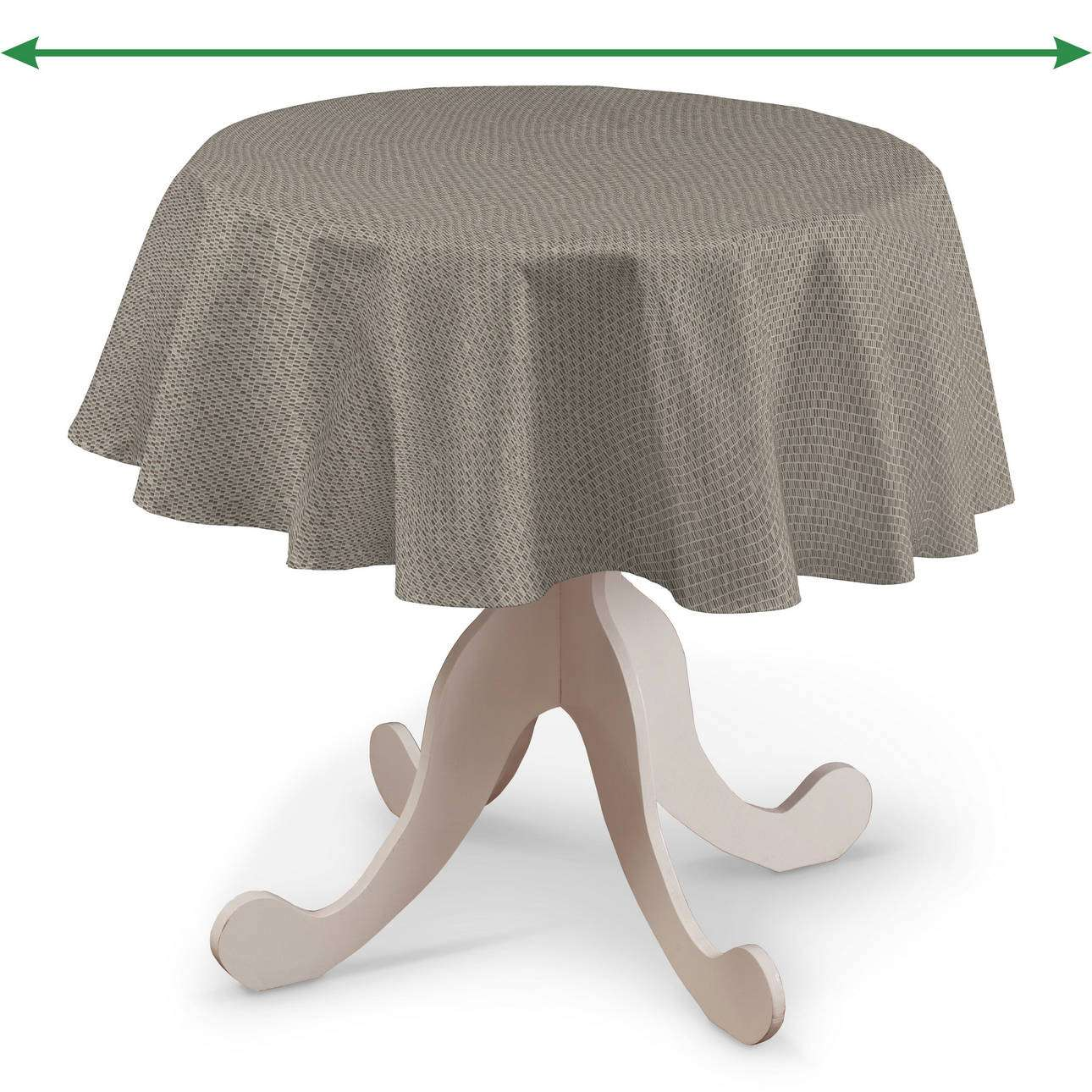 Round tablecloth in collection Retro Glam, fabric: 142-82