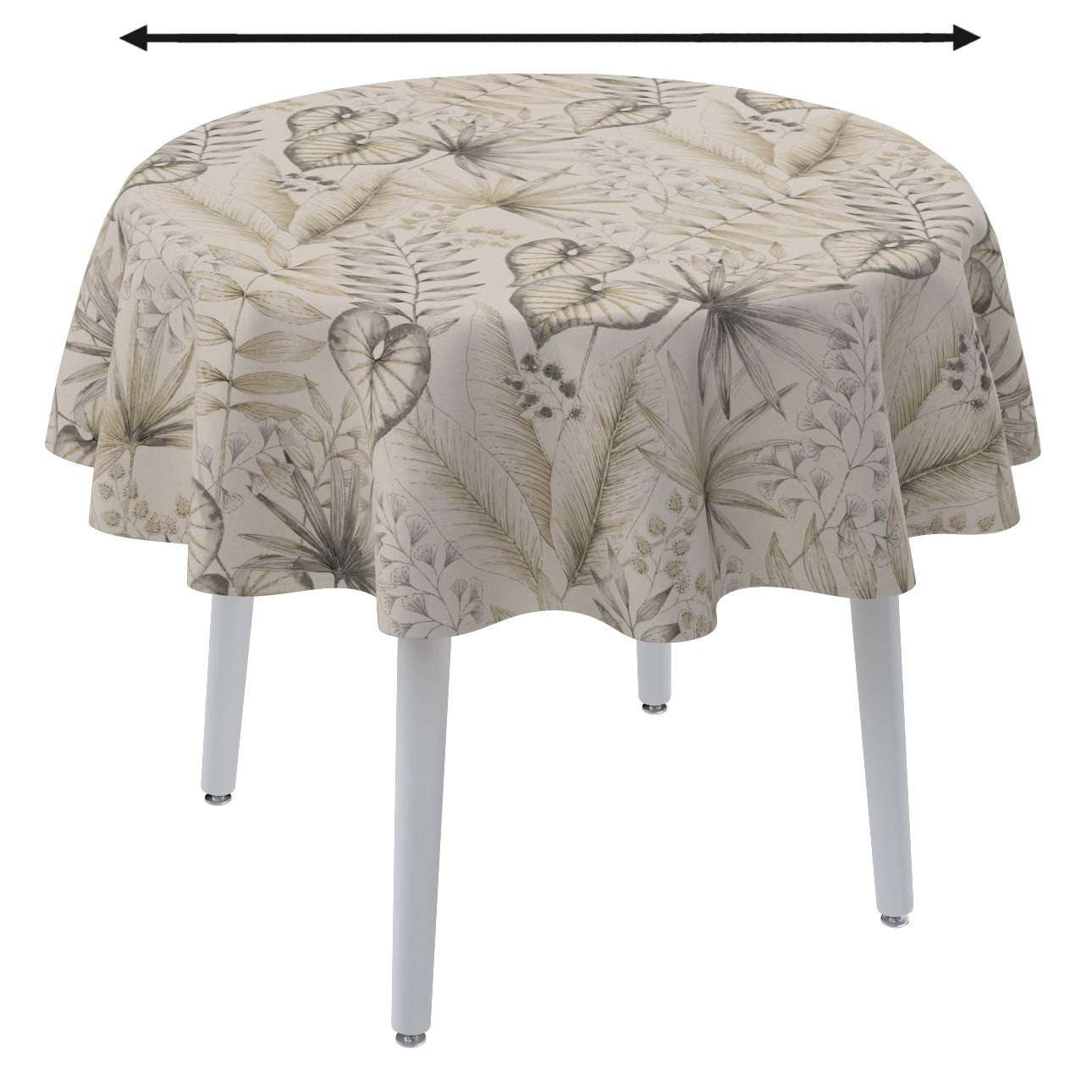 Round tablecloth in collection Nordic, fabric: 142-93