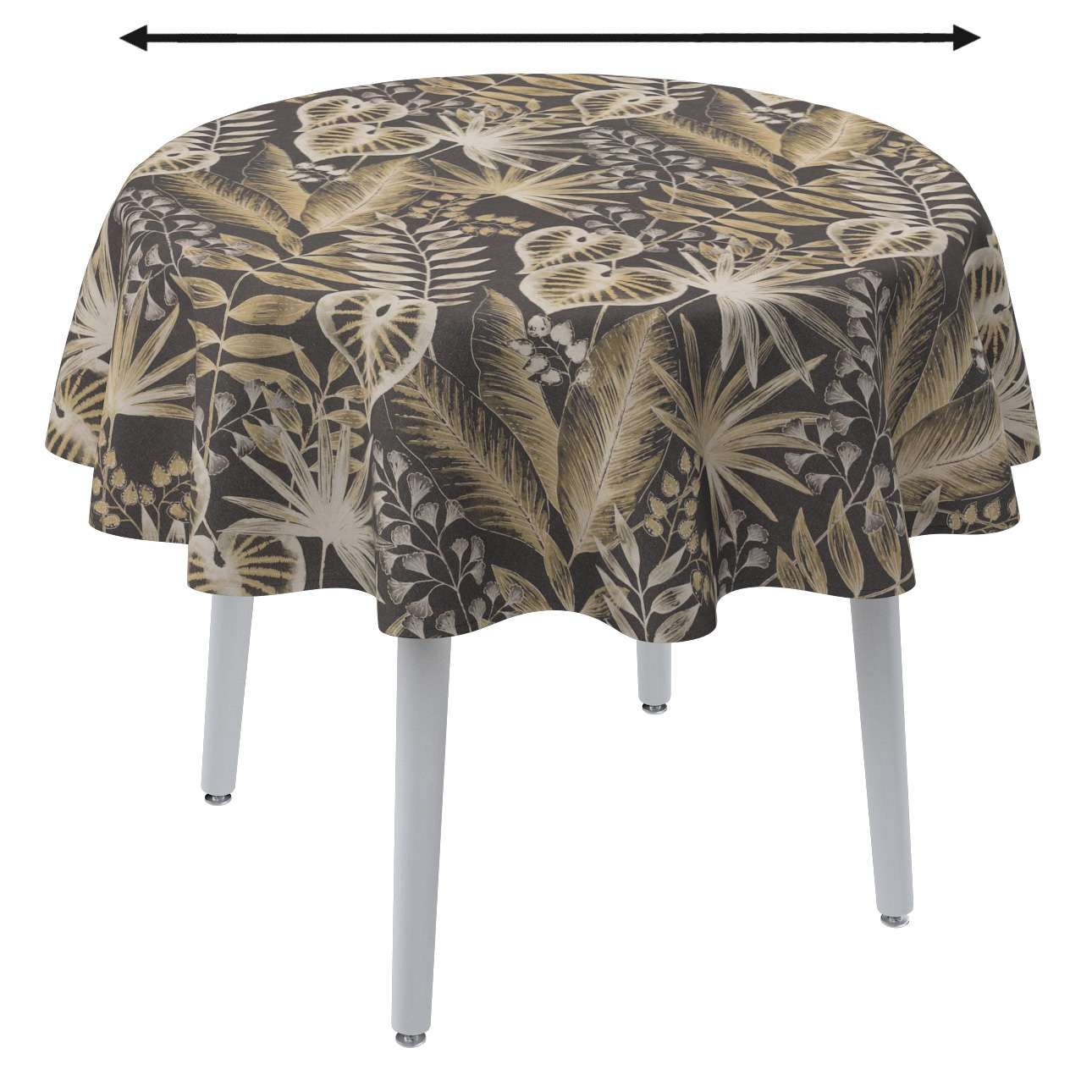 Round tablecloth in collection Nordic, fabric: 142-94