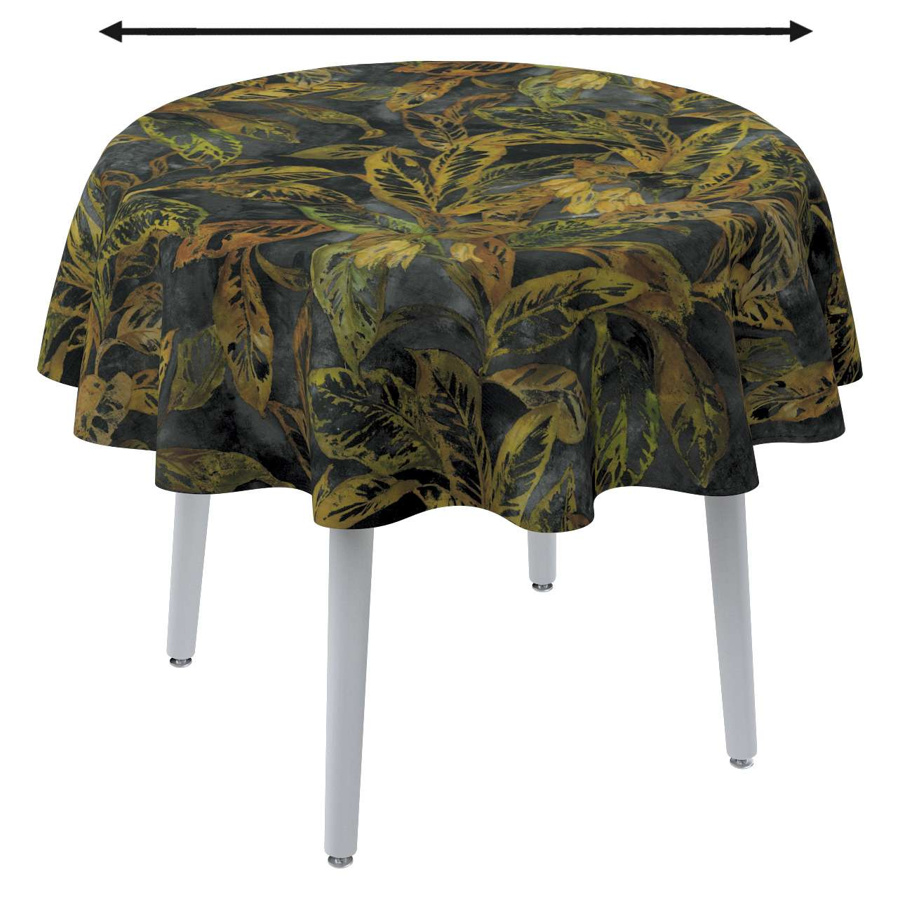 Round tablecloth in collection Abigail, fabric: 143-01