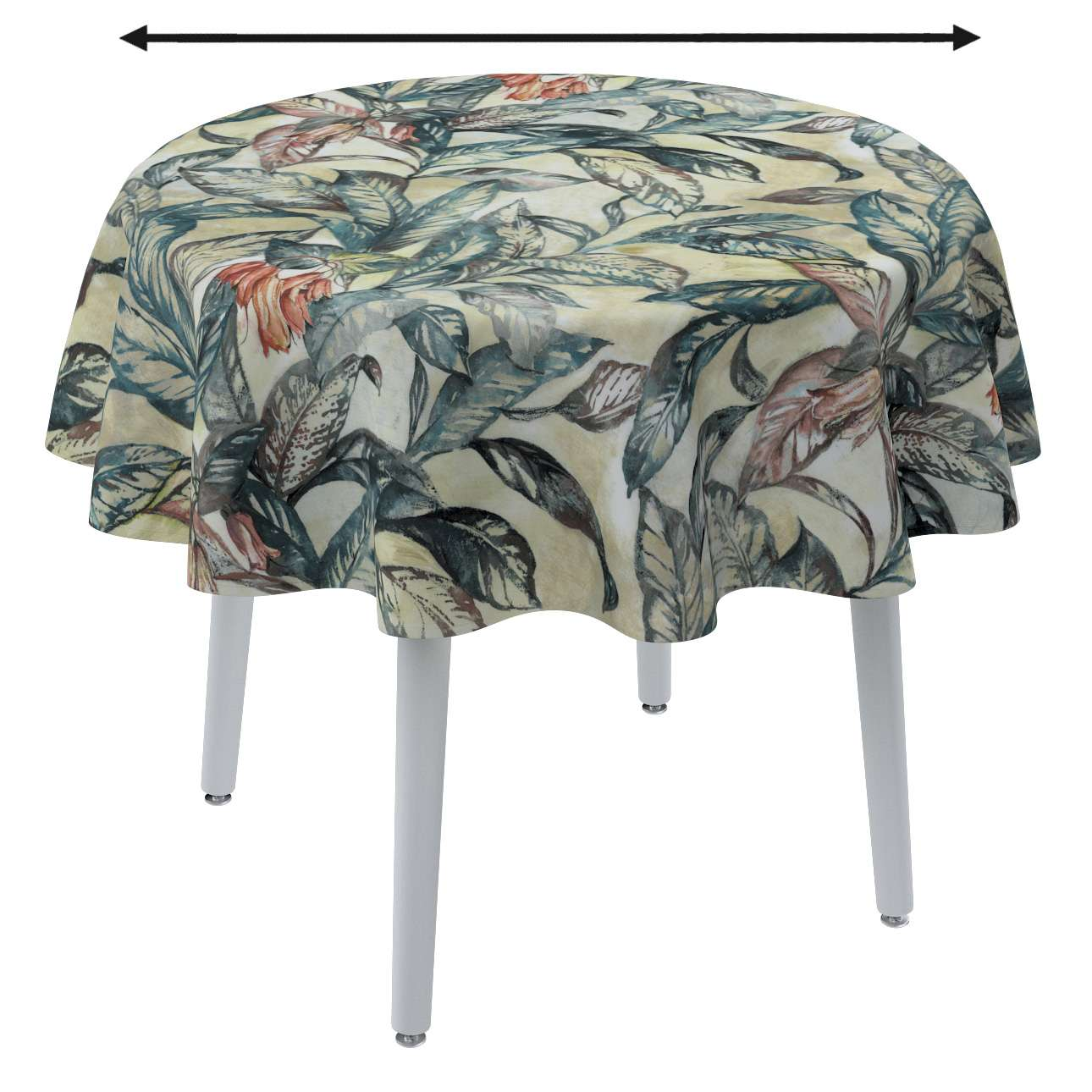 Round tablecloth in collection Abigail, fabric: 143-08