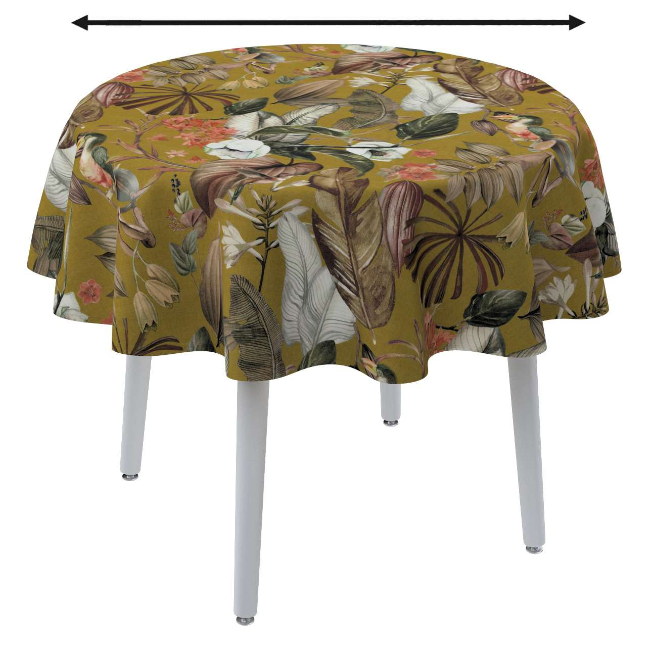 Round tablecloth in collection Abigail, fabric: 143-09