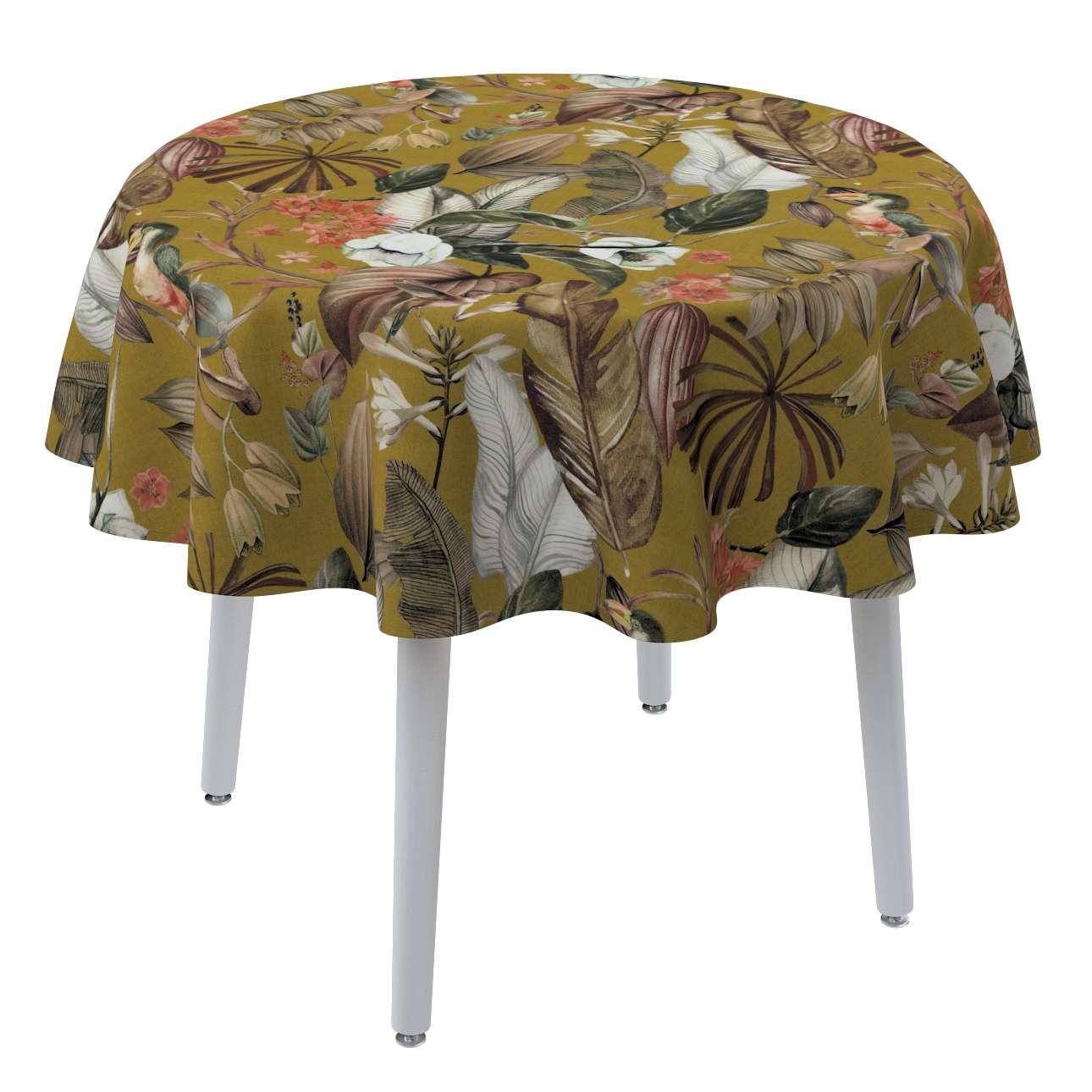 Runde borddug fra kollektionen Abigail, Stof: 143-09
