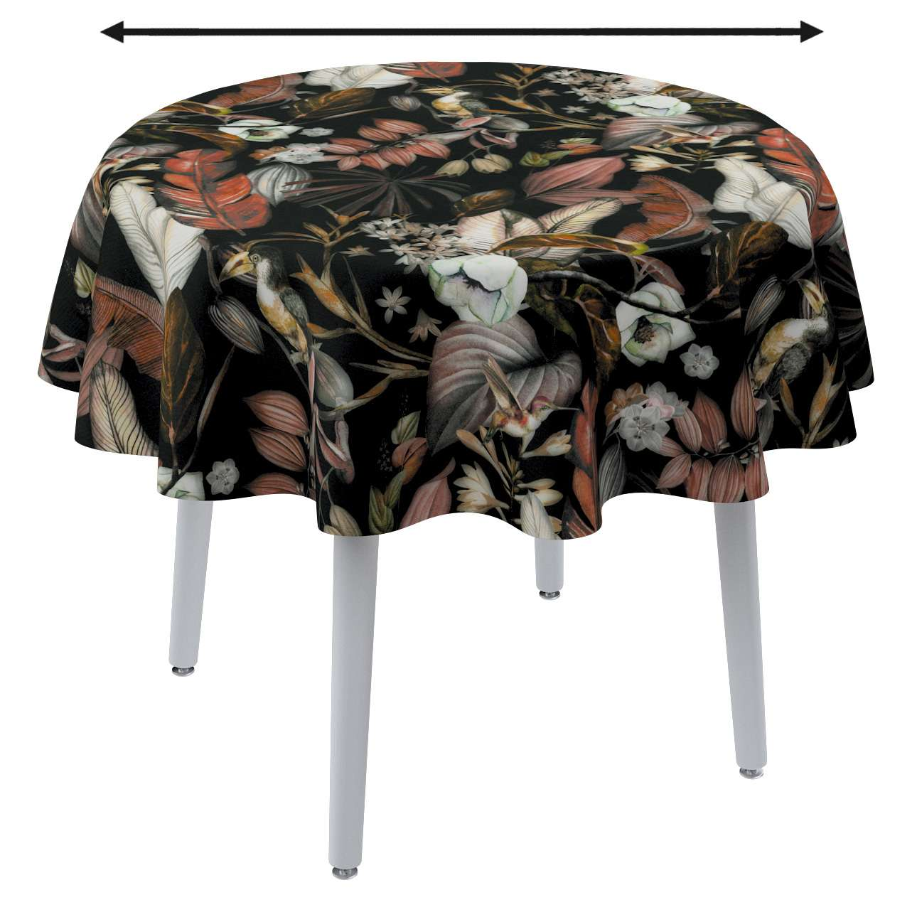 Round tablecloth in collection Abigail, fabric: 143-10