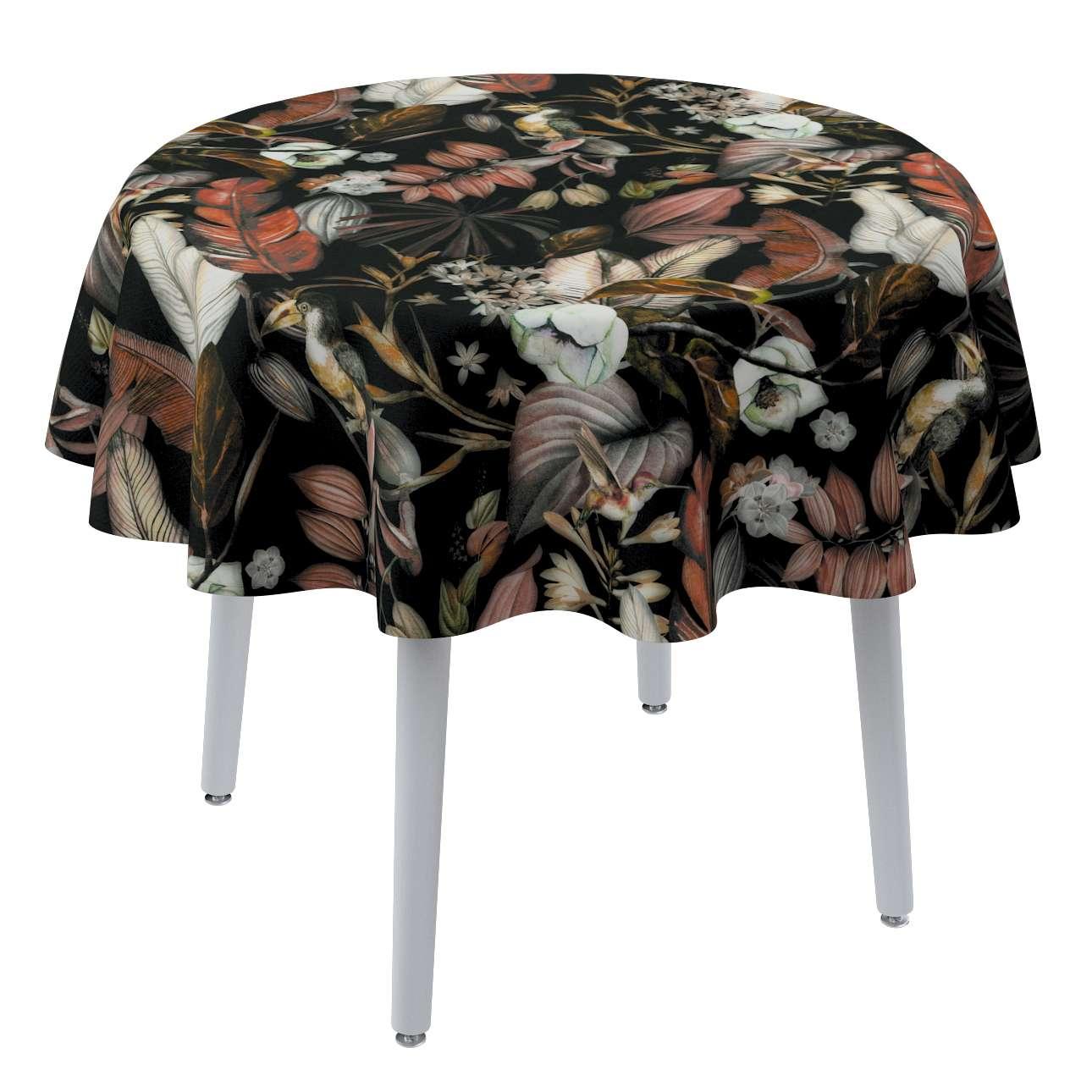 Rund bordsduk i kollektionen Abigail, Tyg: 143-10