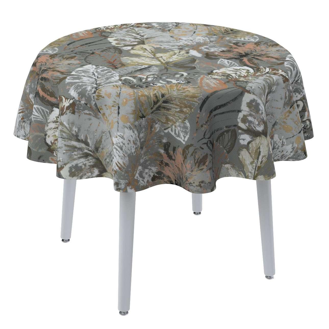 Rund bordsduk i kollektionen Abigail, Tyg: 143-19