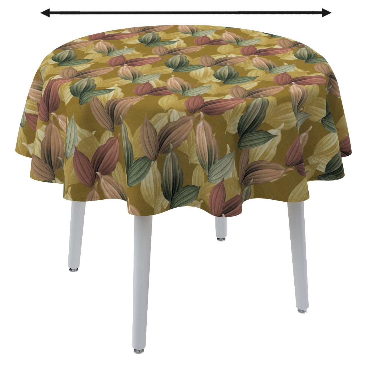 Round tablecloth in collection Abigail, fabric: 143-22