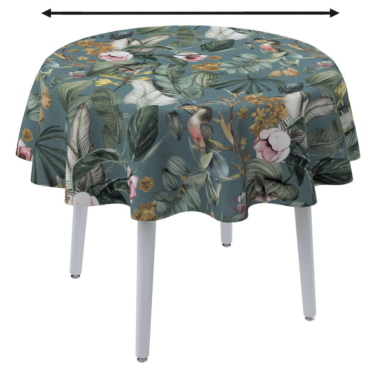 Round tablecloth in collection Abigail, fabric: 143-24