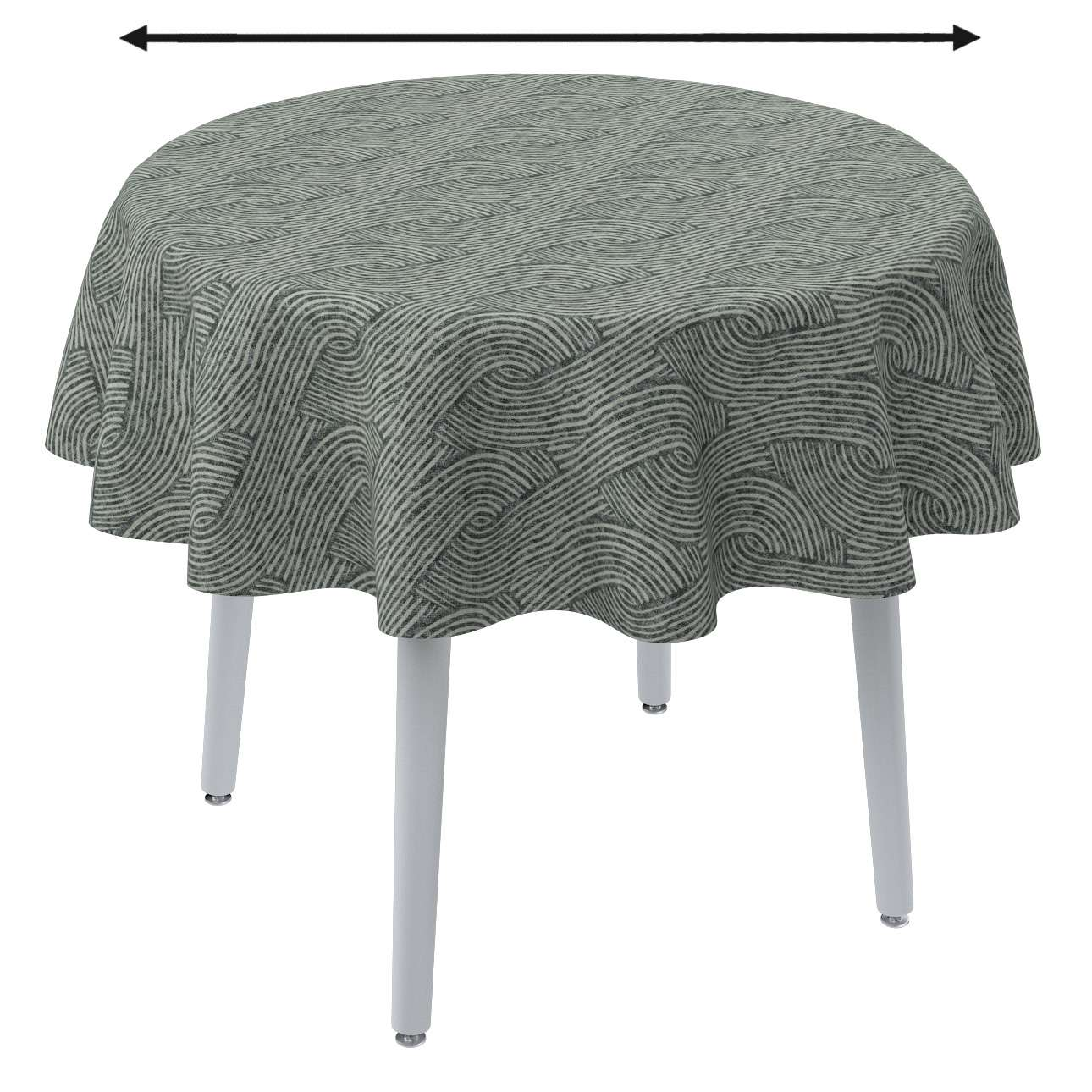 Round tablecloth in collection Comics/Geometrical, fabric: 143-13