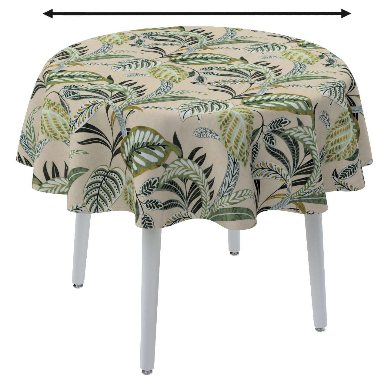 Obrus okrúhly V kolekcii Tropical Island, tkanina: 142-96
