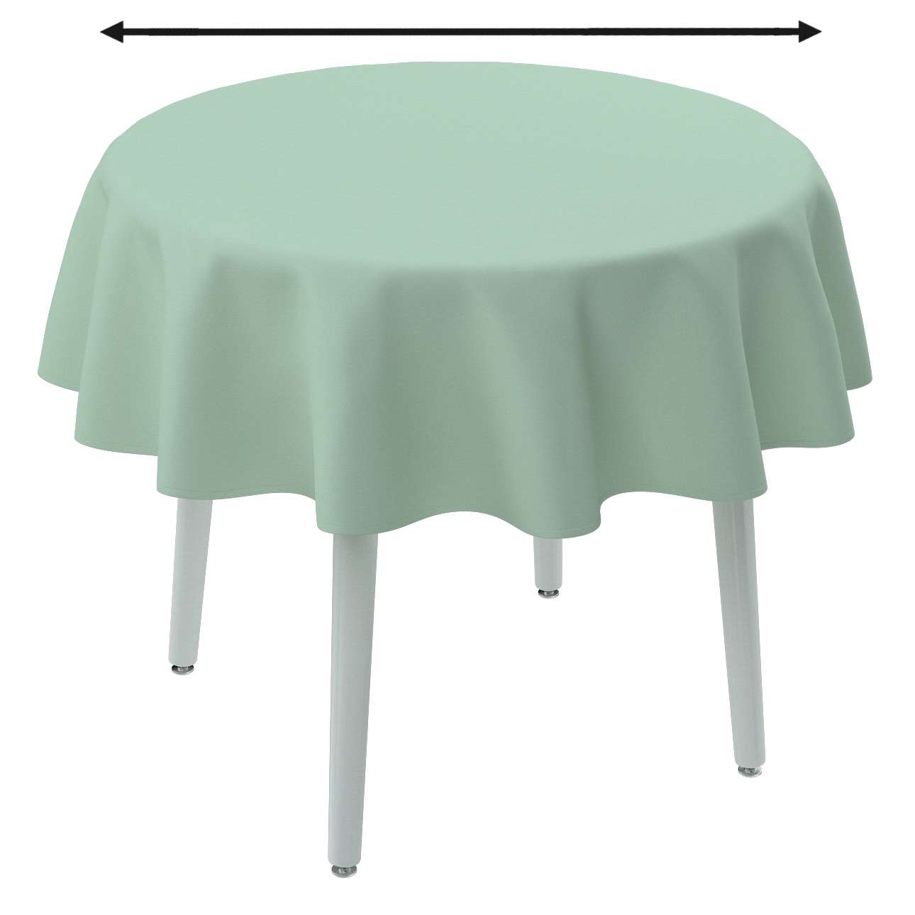 Runde Tischdecke von der Kollektion Loneta, Stoff: 133-61