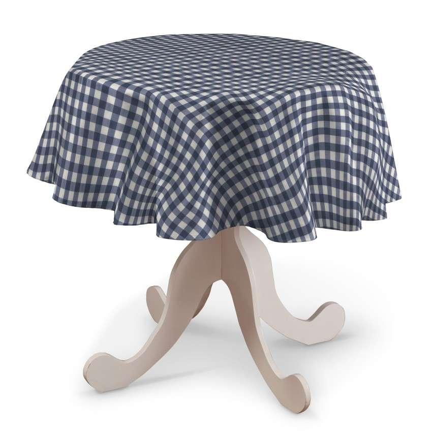 Rund bordsduk i kollektionen Quadro II, Tyg: 136-01