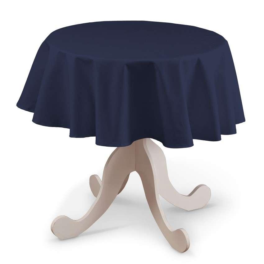 Rund bordsduk i kollektionen Quadro II, Tyg: 136-04