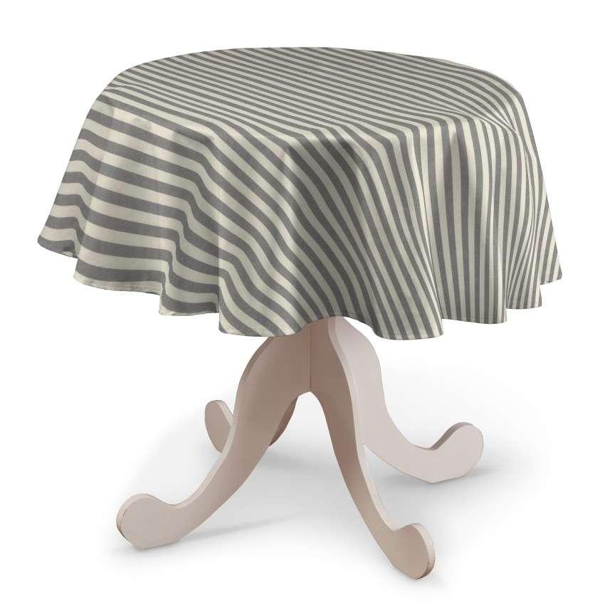 Rund bordsduk i kollektionen Quadro II, Tyg: 136-12