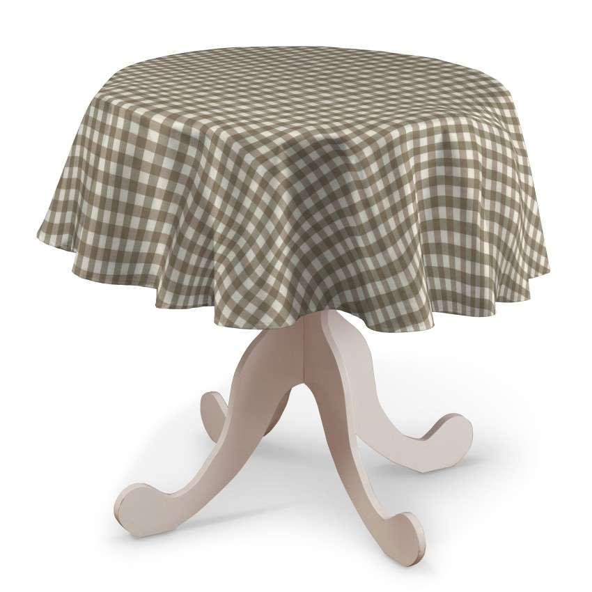Rund bordsduk i kollektionen Quadro II, Tyg: 136-06