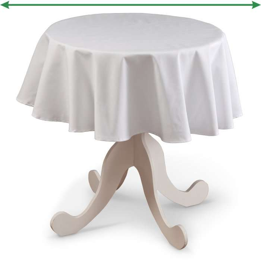 Runde borddug fra kollektionen Quadro II, Stof: 136-16