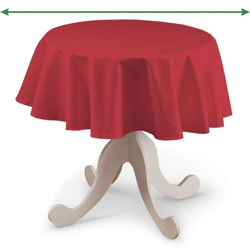 Runde borddug fra kollektionen Quadro II, Stof: 136-19