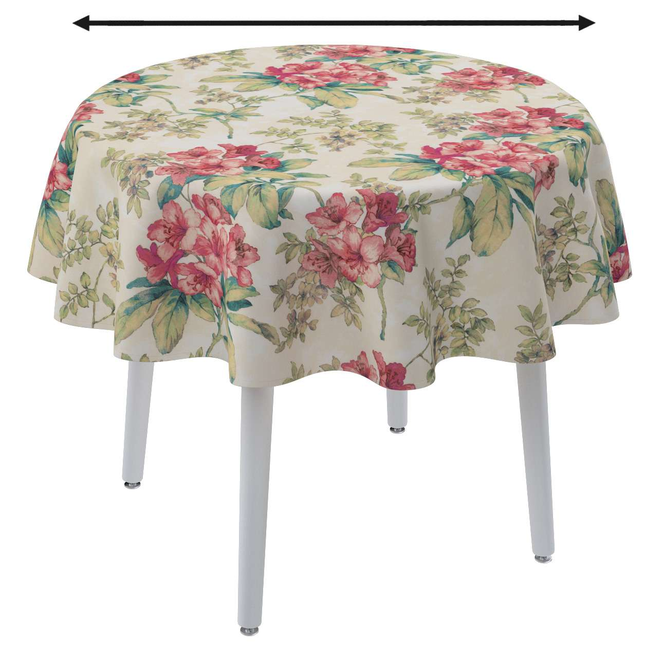 Round tablecloth in collection Londres, fabric: 143-40