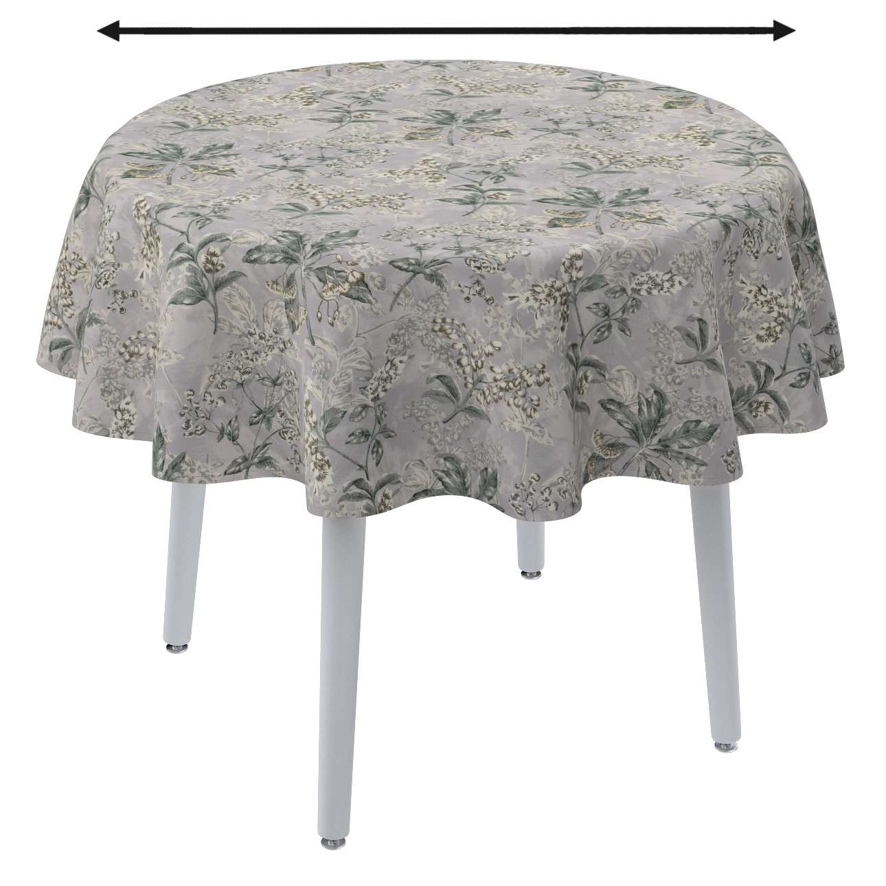 Round tablecloth in collection Londres, fabric: 143-37