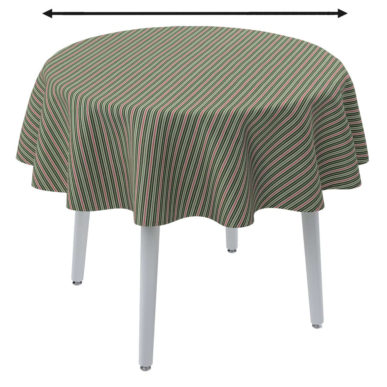 Round tablecloth in collection Londres, fabric: 143-42