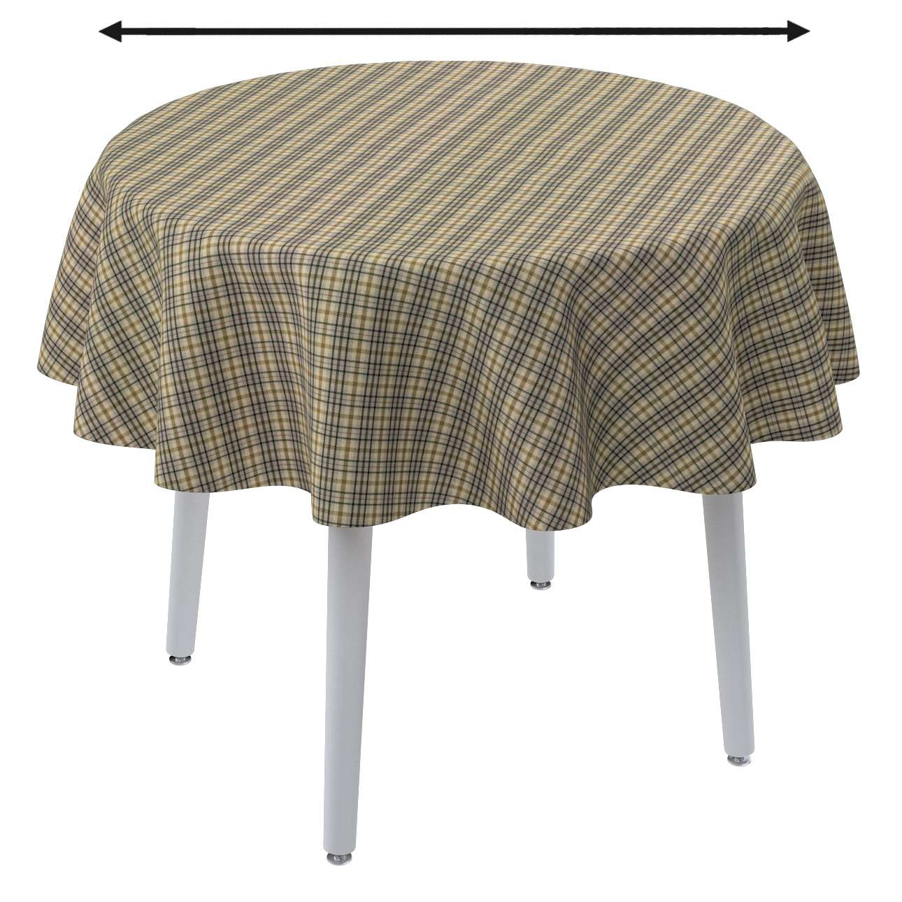 Round tablecloth in collection Londres, fabric: 143-39
