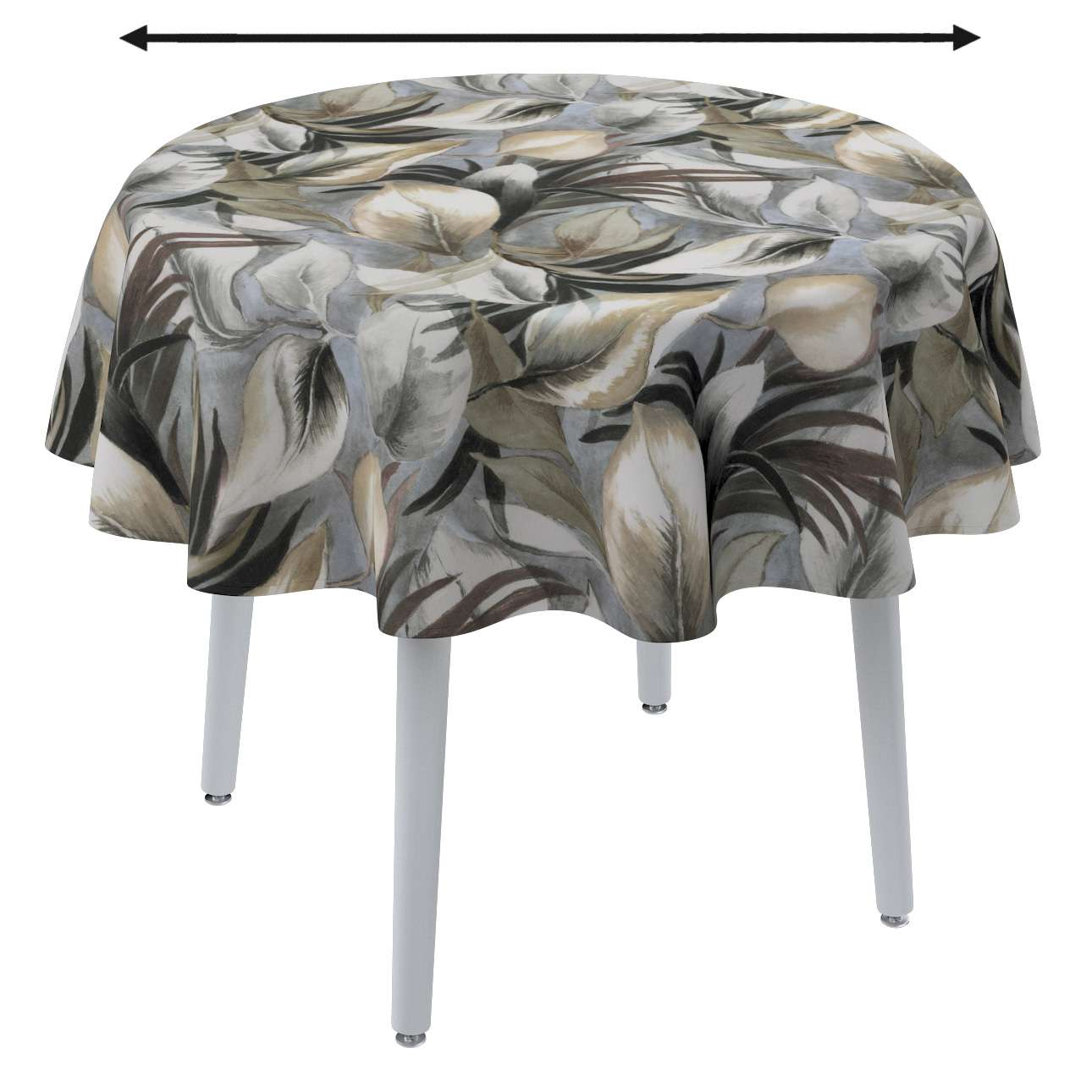 Round tablecloth in collection Abigail, fabric: 143-60