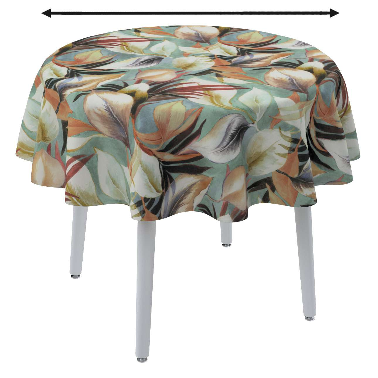 Round tablecloth in collection Abigail, fabric: 143-61