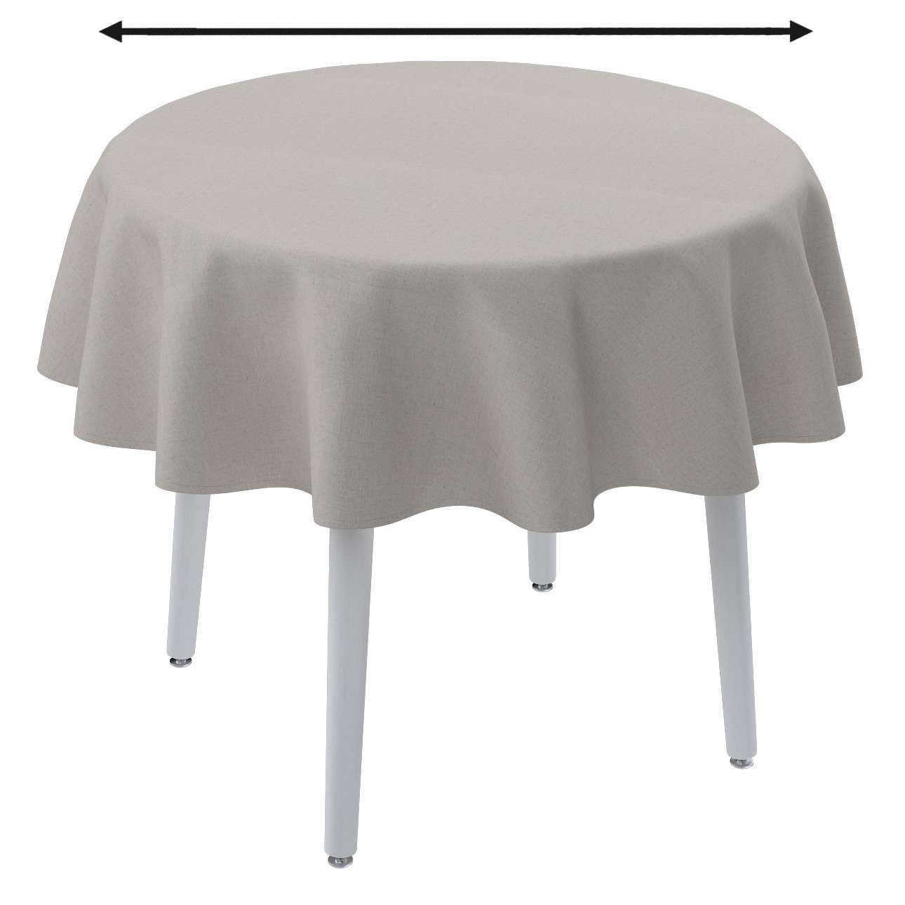 Round tablecloth in collection Linen, fabric: 159-07