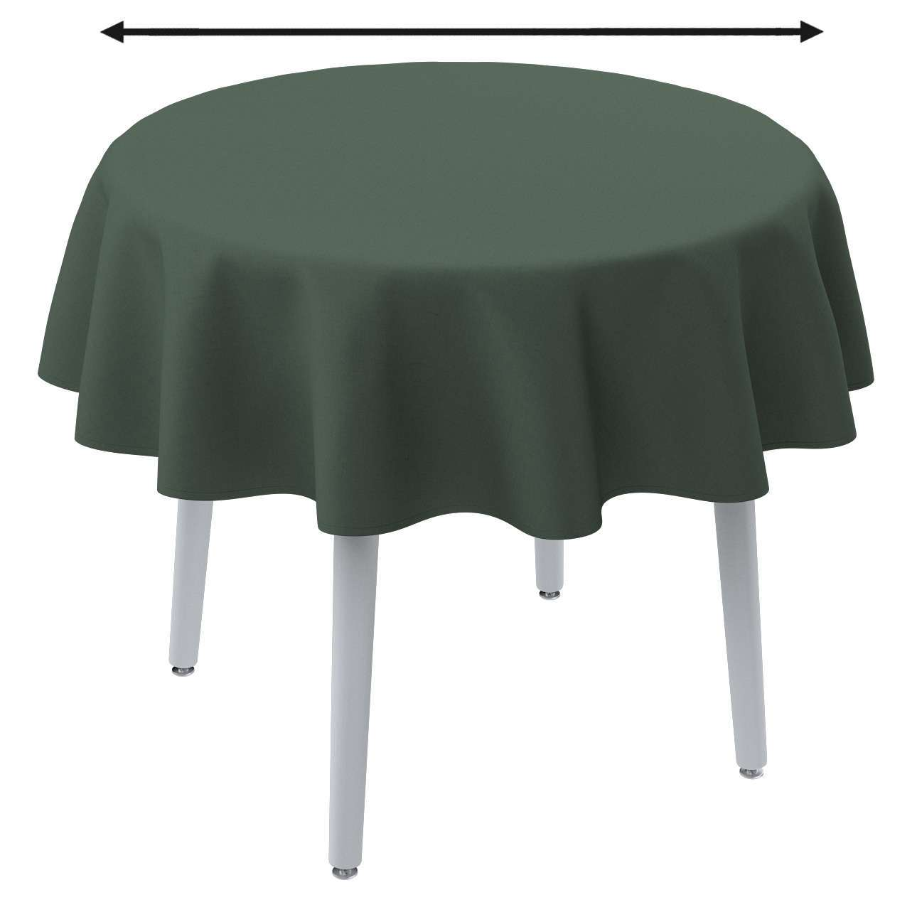 Round tablecloth in collection Linen, fabric: 159-08