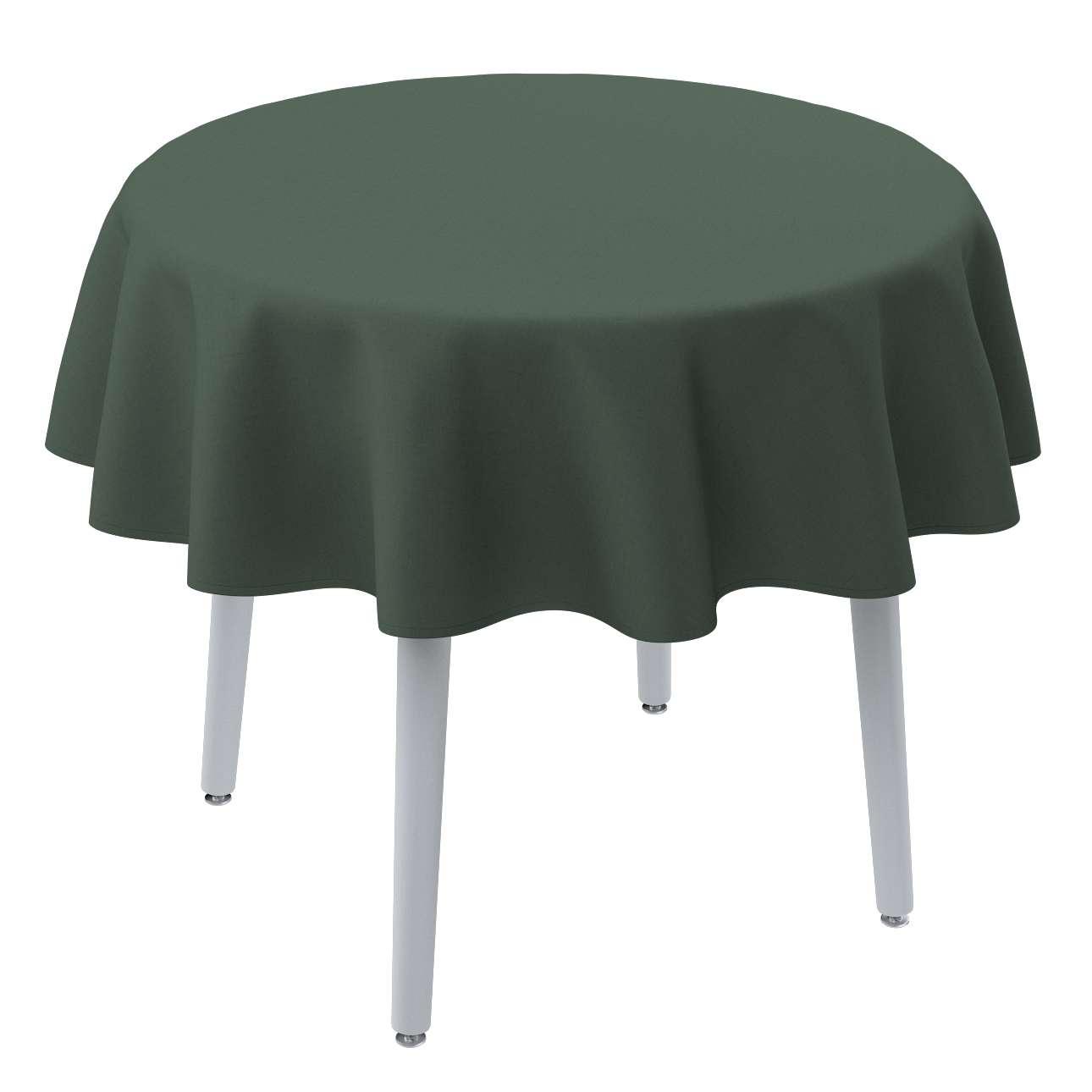 Runde Tischdecke von der Kollektion Leinen, Stoff: 159-08