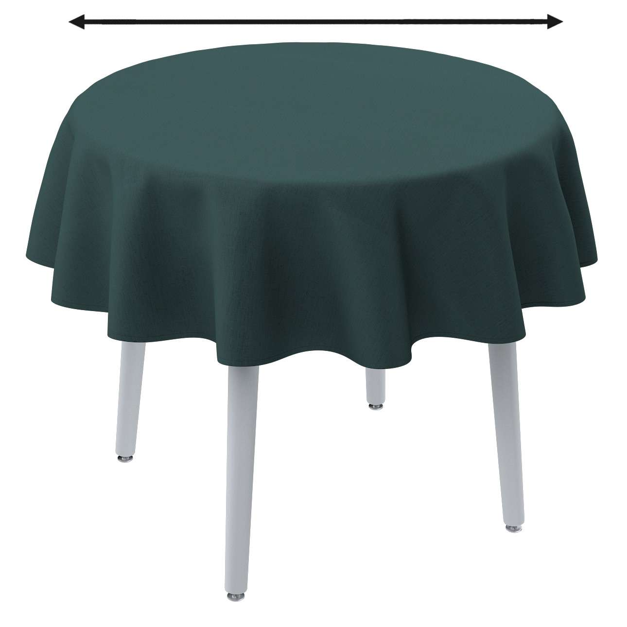 Round tablecloth in collection Linen, fabric: 159-09
