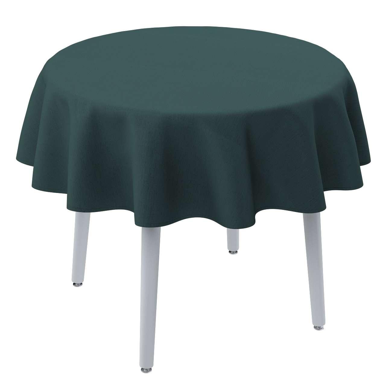 Rund bordsduk i kollektionen Linne, Tyg: 159-09