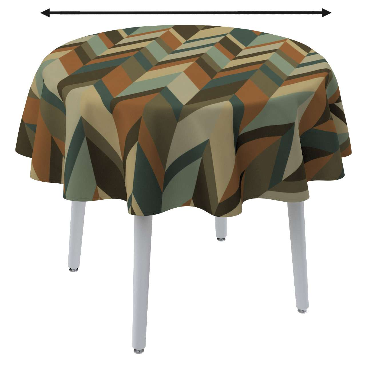 Round tablecloth in collection Vintage 70's, fabric: 143-55