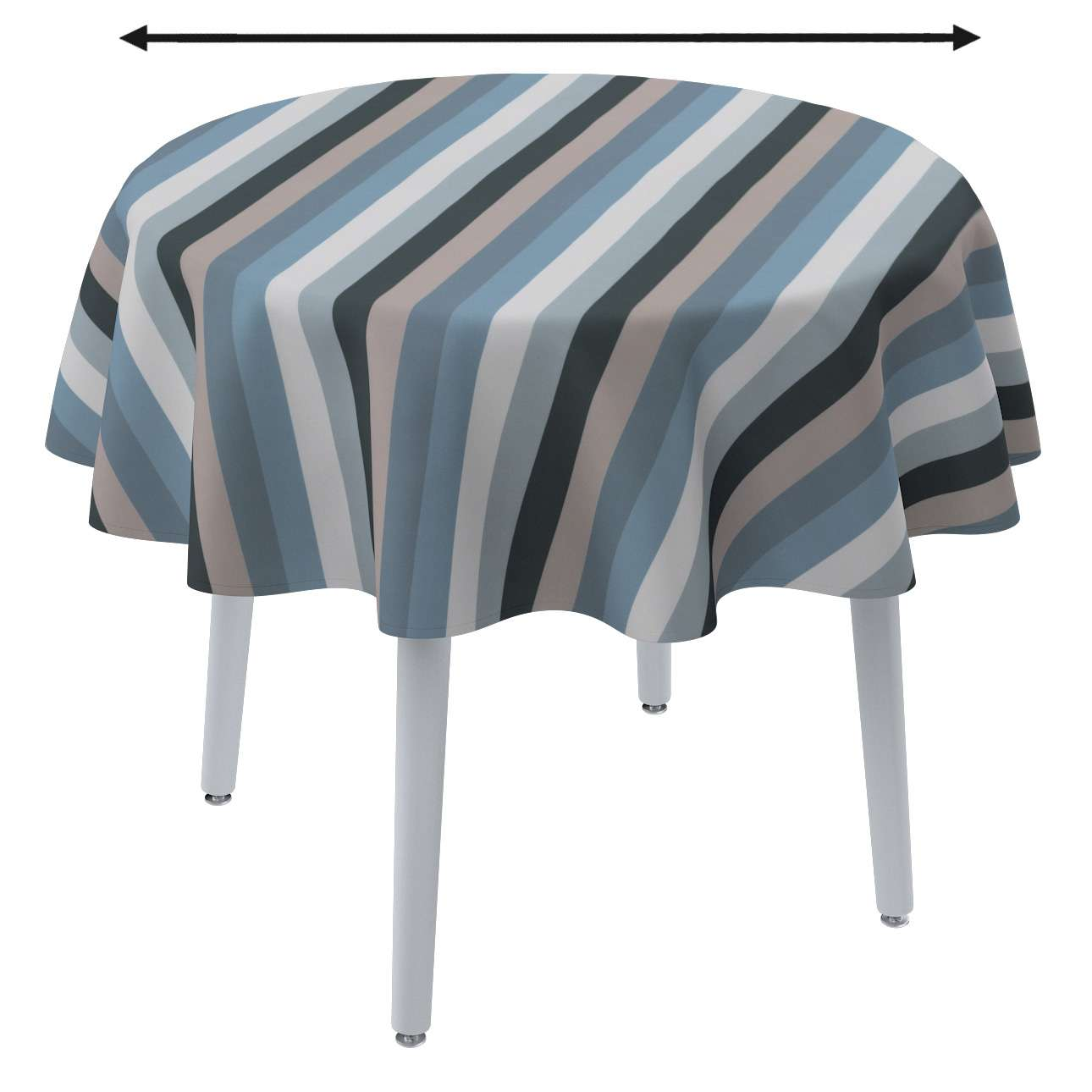 Round tablecloth in collection Vintage 70's, fabric: 143-57