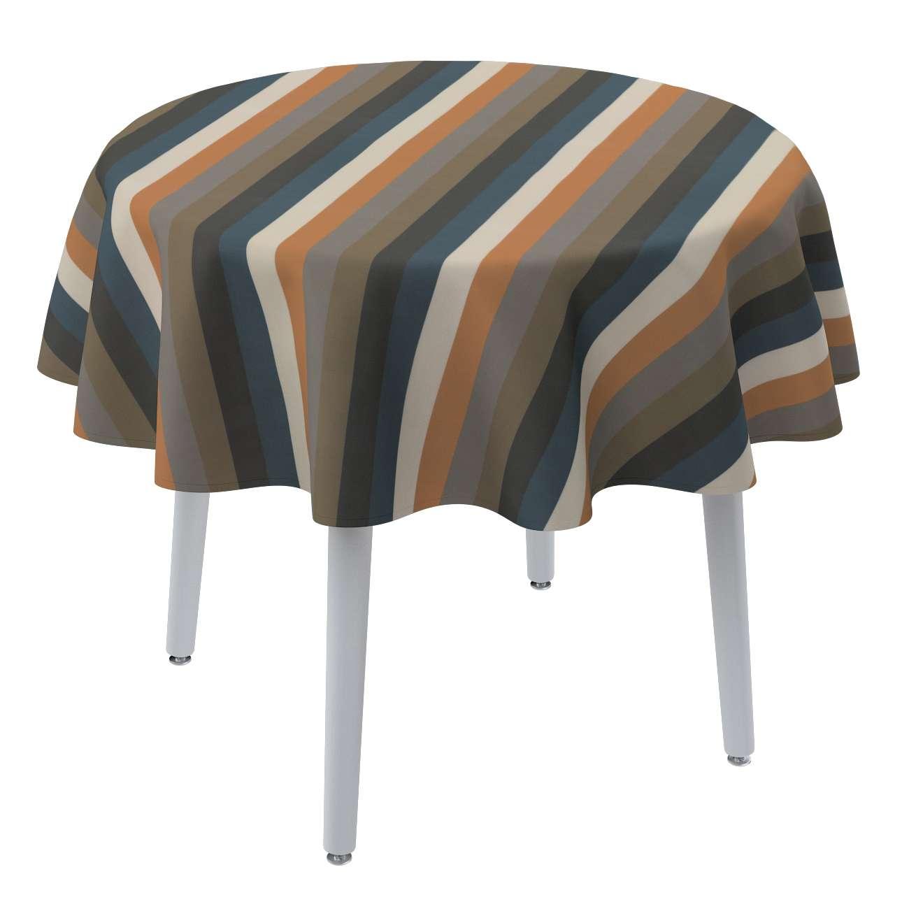 Rund bordsduk i kollektionen Vintage 70's, Tyg: 143-58