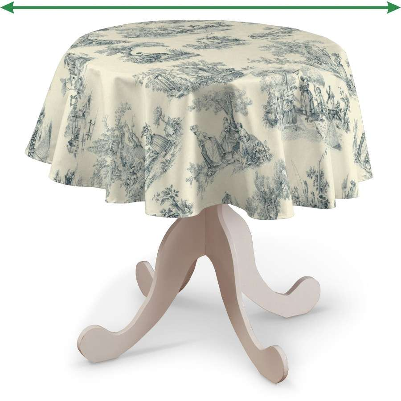 Runde borddug fra kollektionen Avinon, Stof: 132-66