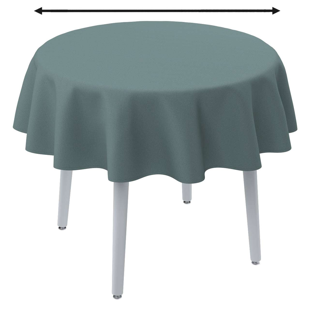 Round tablecloth in collection Panama Cotton, fabric: 702-40