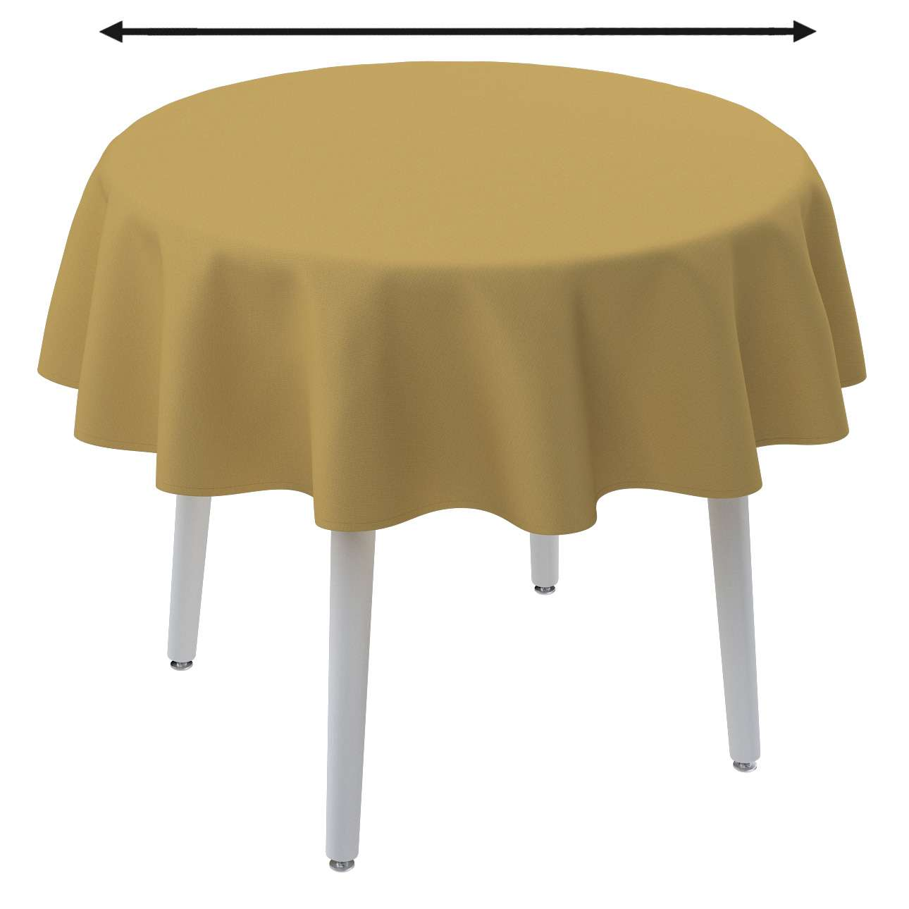 Round tablecloth in collection Panama Cotton, fabric: 702-41