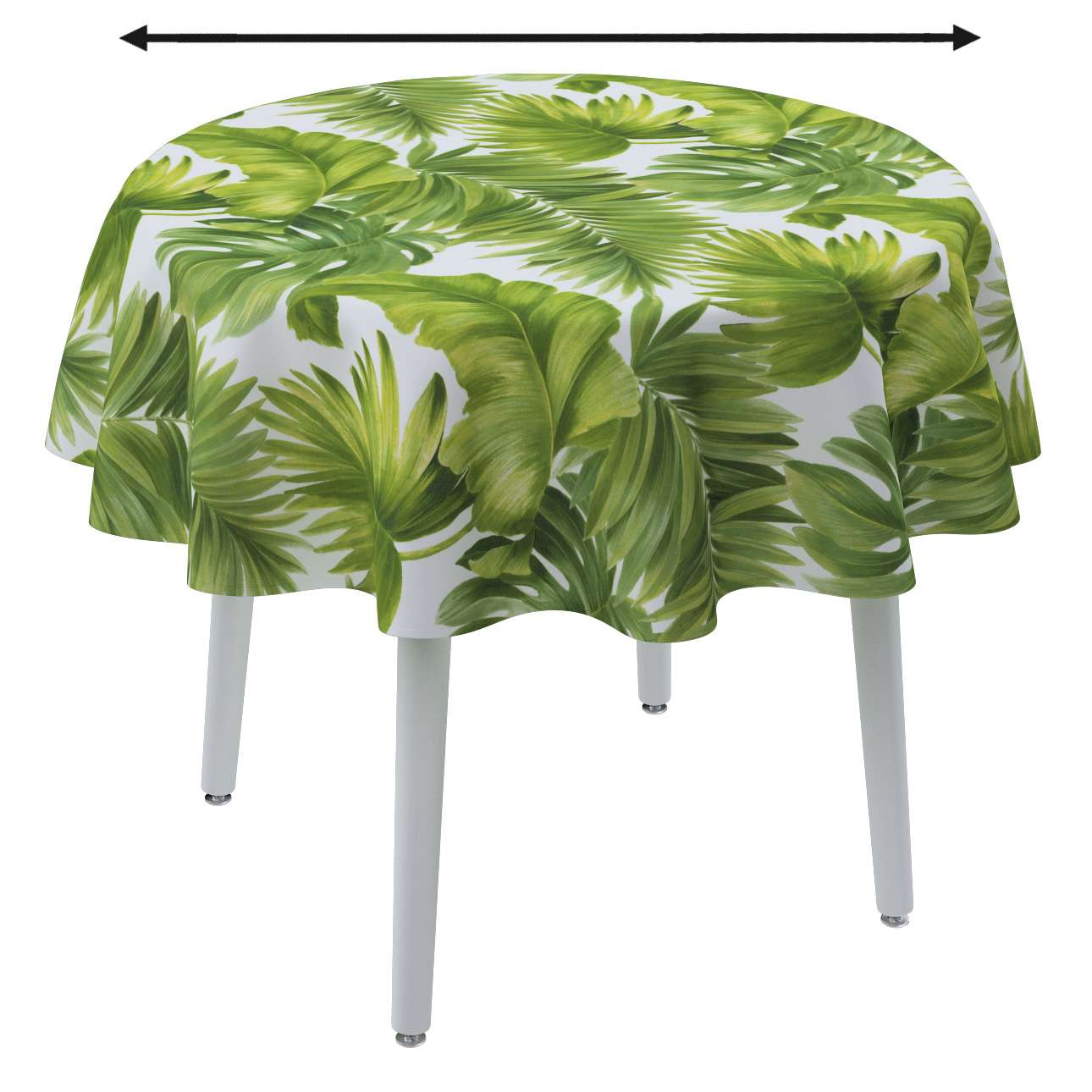 Round tablecloth in collection Tropical Island, fabric: 143-63
