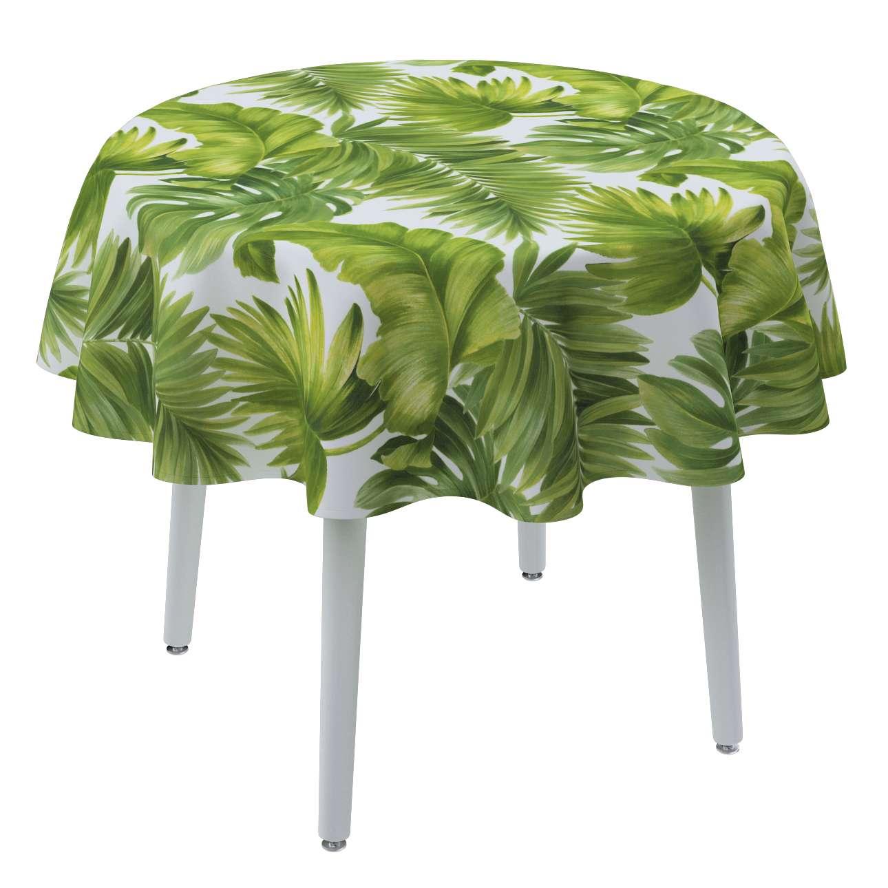 Runde Tischdecke von der Kollektion Tropical Island, Stoff: 143-63