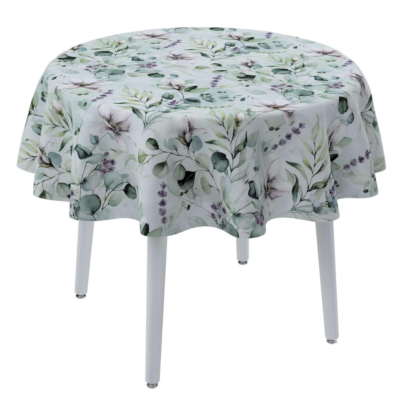 Runde Tischdecke von der Kollektion Flowers, Stoff: 143-66