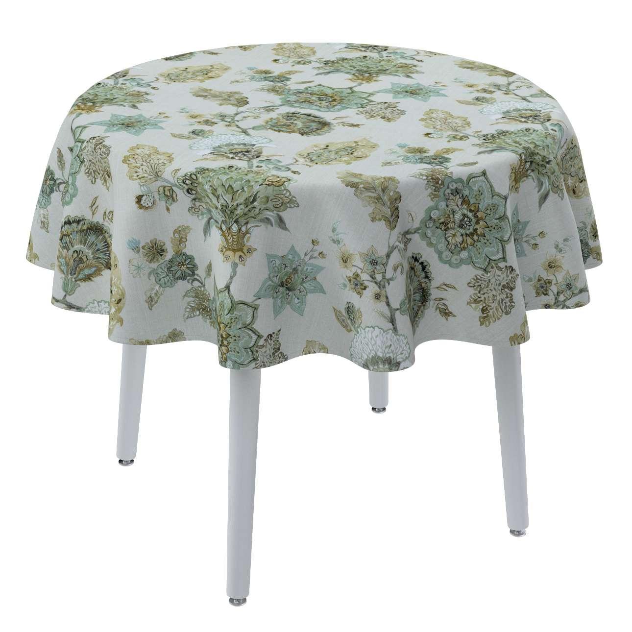 Runde Tischdecke von der Kollektion Flowers, Stoff: 143-67