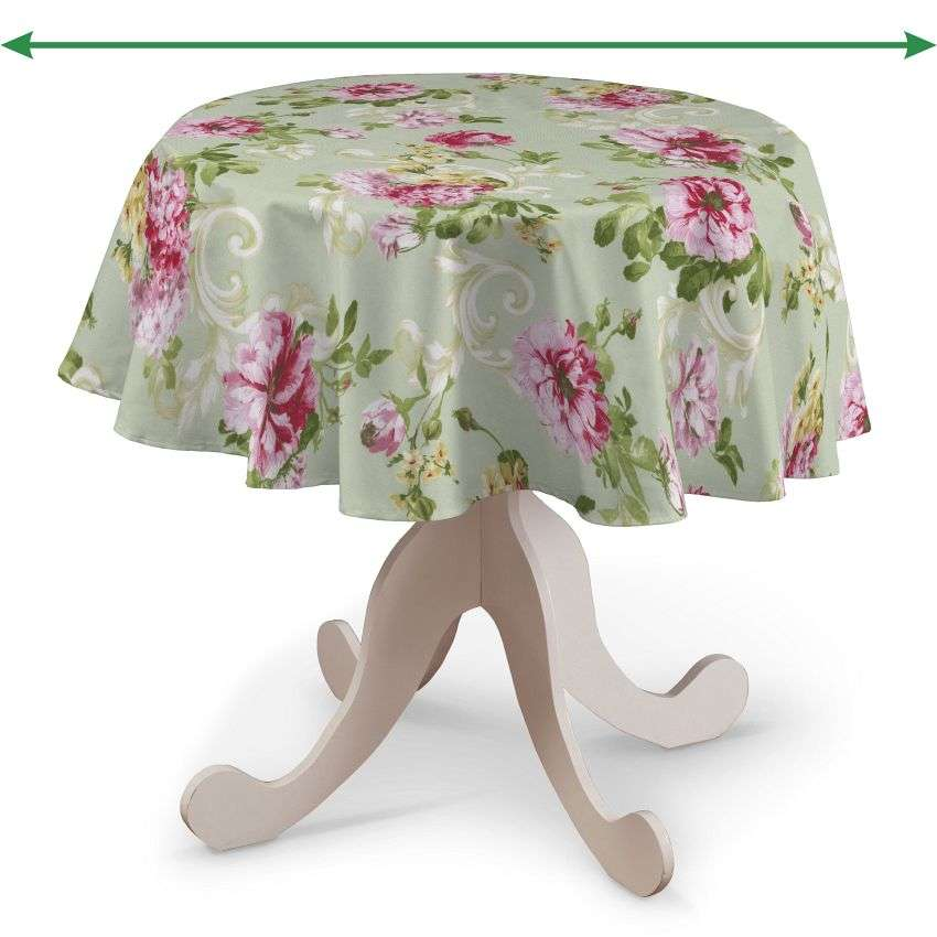 Round tablecloth in collection Flowers, fabric: 311-10