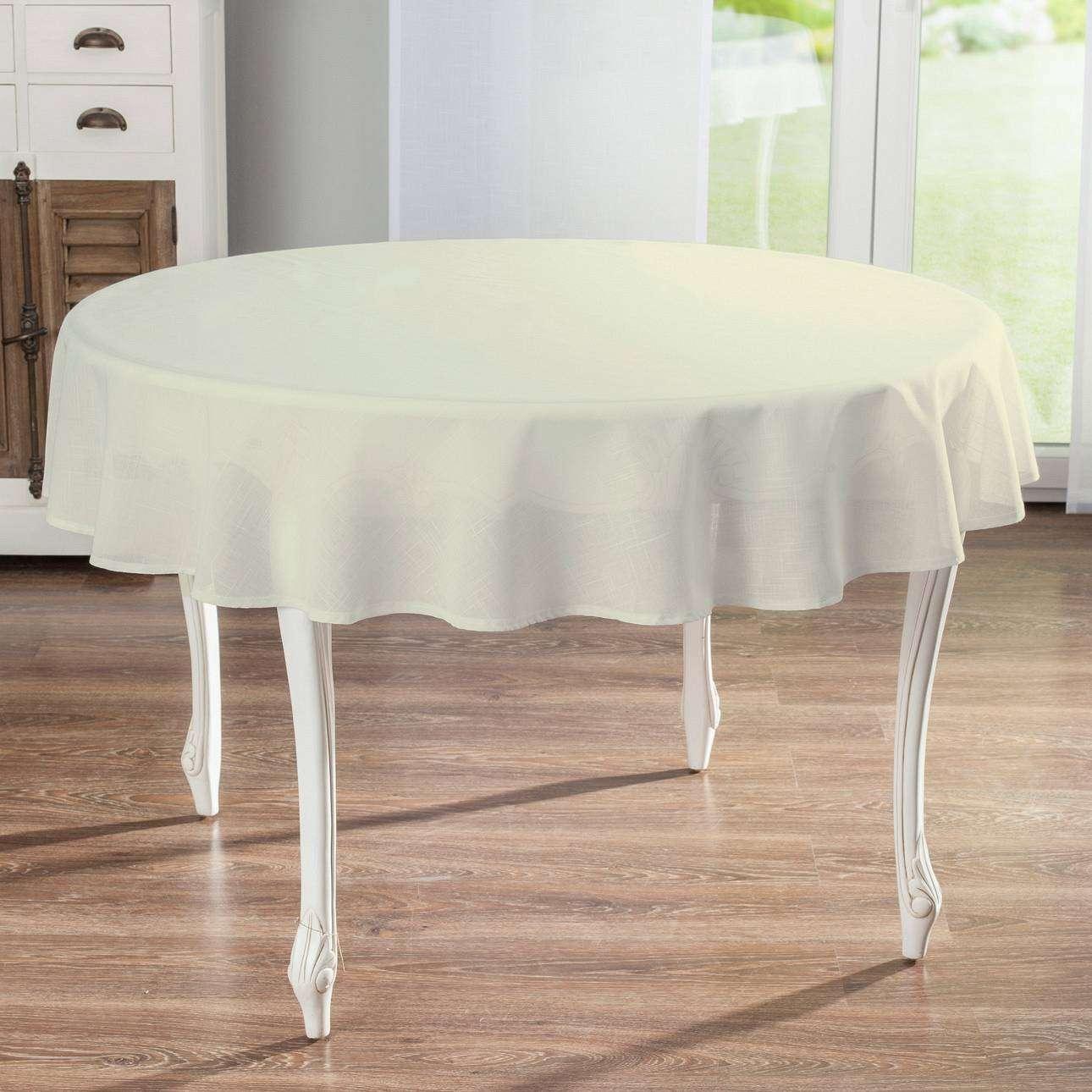 Rund bordsduk i kollektionen Romantica, Tyg: 128-88