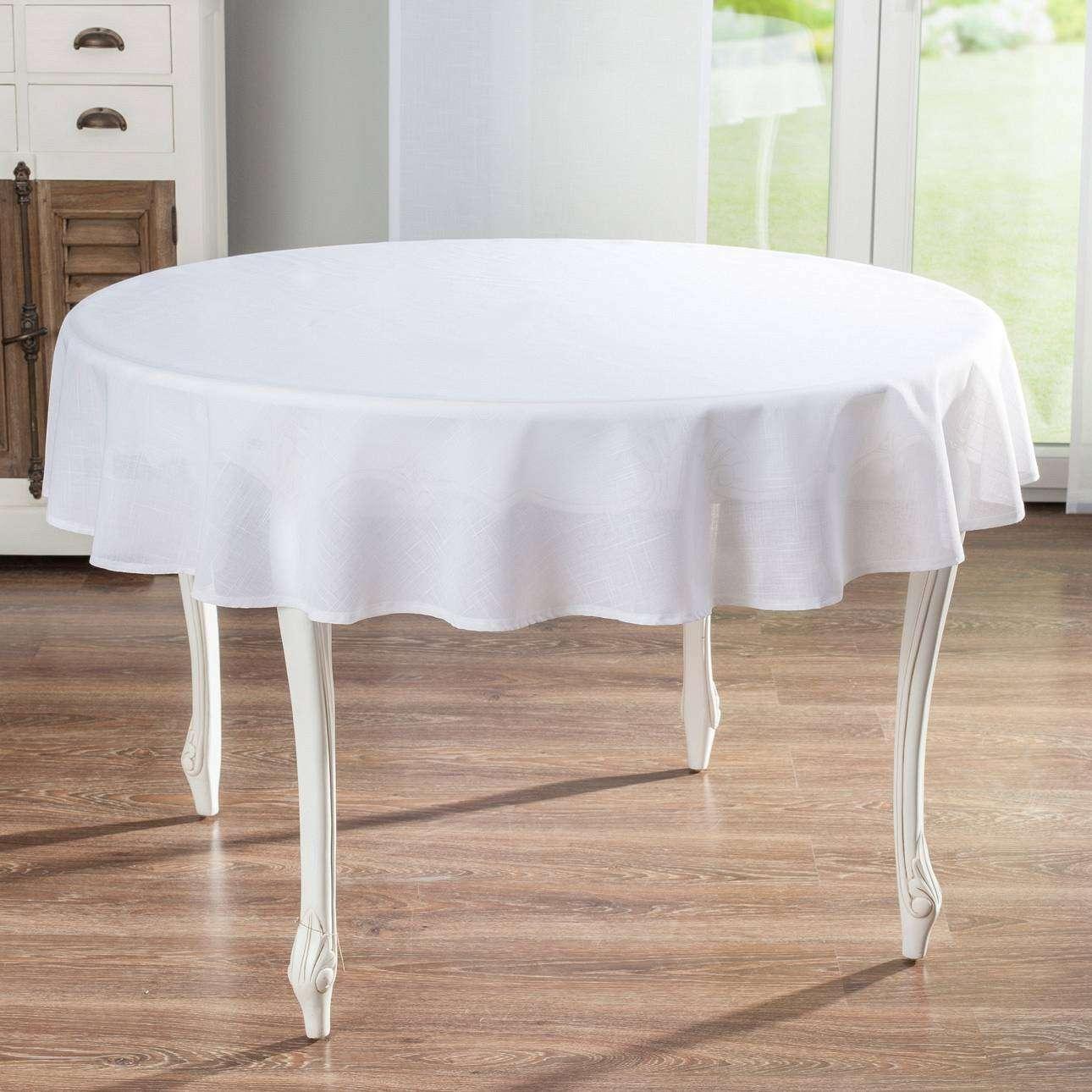 Pyöreä pöytäliina mallistosta Romantik, Kangas: 128-77