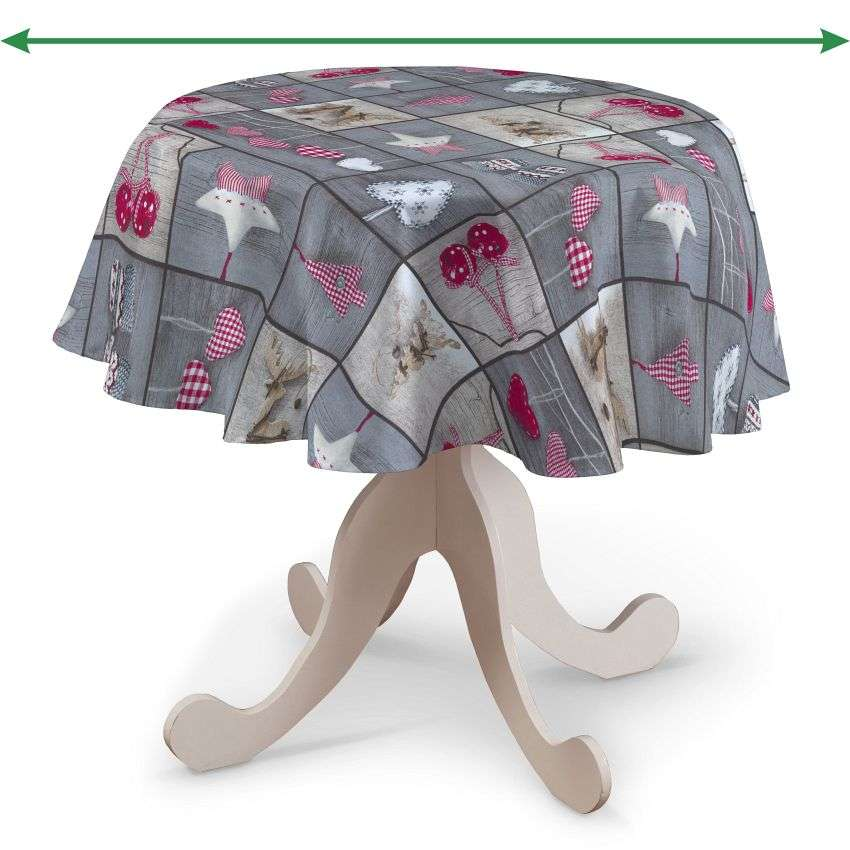 Round tablecloth in collection Christmas, fabric: 629-20